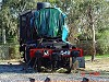With smokebox removed - J549 sits on a turntable road at Maldon - W.Maylor 25.8.2007