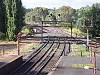 View from the signalbox. Plain track has been laid in the area previously occupied by the up-down line crossover and the down-Maryborough line turnout - W.Maylor