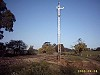 The mast for the 'Down Home' signal at Muckleford was placed in position during the works at Walmer Road Crossing on 4th September. - T.Maylor 4th Sept 2003