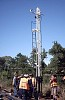 The mast for the new departure signal at the Catch Points has just been installed. The time is approaching 10am and the temperature heads toward the predicted 41 degrees as the discussion turns to the second mast to installed, this time near the 3 - 4 road turnout - W.Maylor 14th Feb 2004