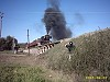 J549 hauling VGR Members Special Train crossing Winters Flat Bridge - 2/8/2003