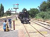 K160 and RM61 arriving at Castlemaine as first VGR train - 18/12/2004